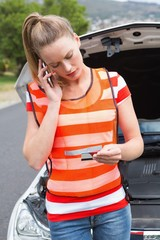 Young woman calling with her mobile phone