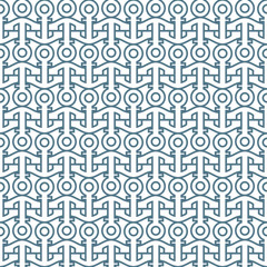 Delicate seamless pattern with anchors