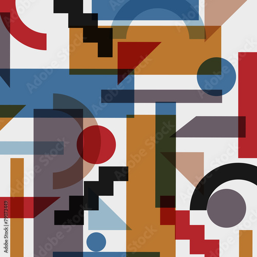 Geometric abstract background in cubism style © arturaliev