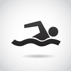 Swimming person - vector icon.