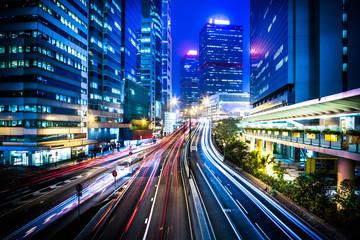 Hong Kong city night scenes