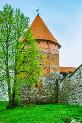 Old tower of castle. Trakai, Lithuania