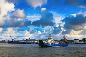 Ferry boat  in Klaipeda port