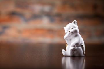small porcelain cat souvenir