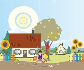 Дети в деревне 2