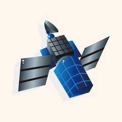 Space Satellite theme elements vector,eps