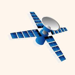 Space Satellite theme elements vector,eps