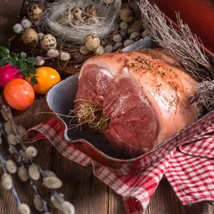 raw Easter roast - crisp and fresh