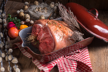 raw Easter roast - crisp and fresh