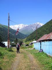 In Svanetian village. Georgia