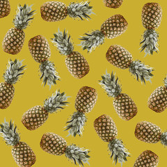 Tropical background with pineapples