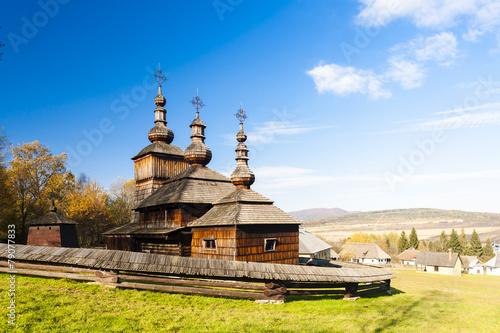 Fototapeta wooden church, Museum of Ukrainian village, Svidnik, Slovakia