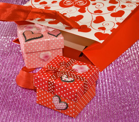 various gift boxes and gift packs