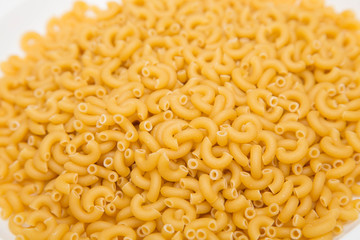 Elbow Macaroni on Counter