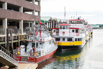 Fire Boat and Ferries in Portland