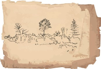 Sketch of landscape