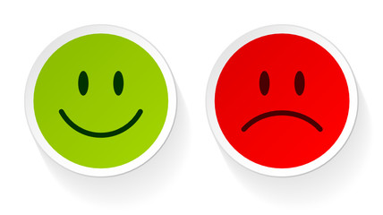 2 Smileys Green/Red