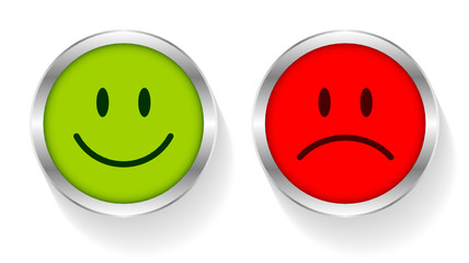 2 Smileys Green/Red Silver