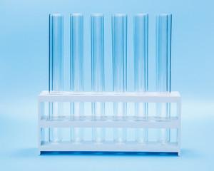 Empty test tubes in rack
