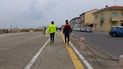 Jogging sul lungomare