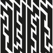 monochrome tech seamless pattern