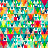 Fototapety watercolor triangle seamless pattern with grunge effect