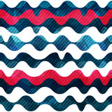 wave seamless pattern with grunge effect
