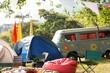 Empty campsite at music festival - 79081632