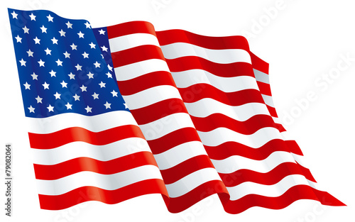 Vector  American flag  isolated on white background - 79082064