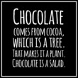 Funny, inspirational, VECTOR quotation about chocolate. - 79082634