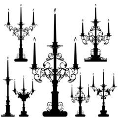 elegant candelabra black and white design