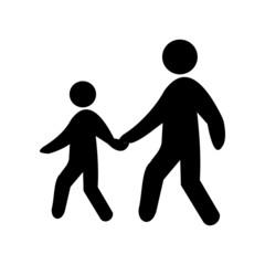 Pedestrian symbol, vector