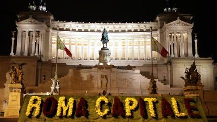 Italy.Rome.Piazza della Republica. Monument Victor Emenuel II