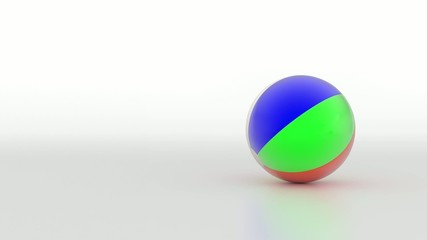 Spinning beach ball. (loop ready file)