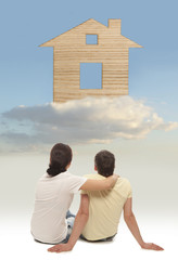 Couple dreaming about a house