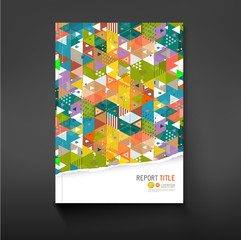 Cover colorful triangle geometry background for corporate
