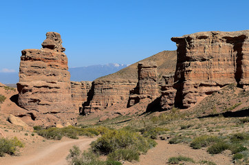 Charyn canyon national Park in Kazakhstan.