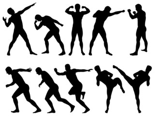 Male silhouettes sport