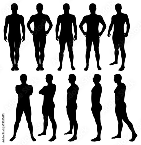 Male silhouettes - 79085473