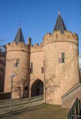 Medieval city gate Sabelspoort in Arnhem