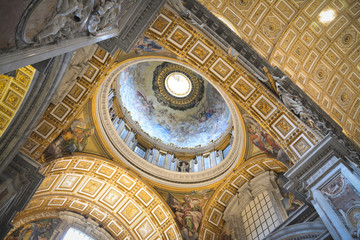 Saint Peter's Basilica dome interior