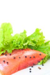 Salmon raw fillet