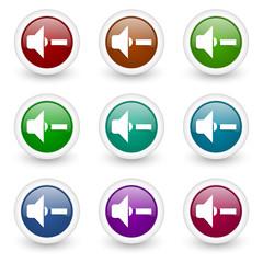sound vector icon set
