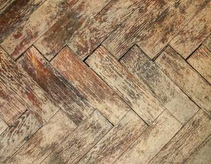Vintage parquet floor