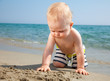 Toddler on a beach