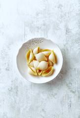 Conchiglie pasta in a ceramic bowl