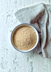 Organic quinoa in a bowl