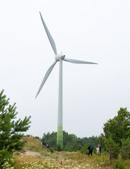 One modern windmil