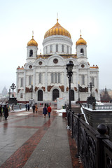 Footbridge to the Central Cathedral of Christ the Savior