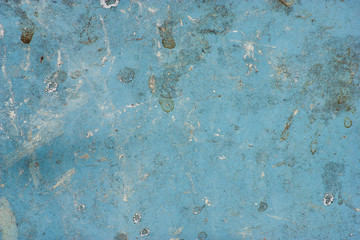 Surface of the metallic blue with dirt.